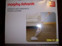 hand held and upright steam cleaner morphy richards