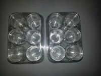 Small glasses in sets of 6