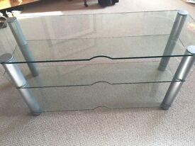 HEAVY GLASS TV TABLE