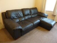Leather 3-seater sofa - very good condition and a bargain at £125!!