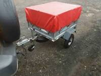 Indespension daxara 107 tipping trailer with extra high box