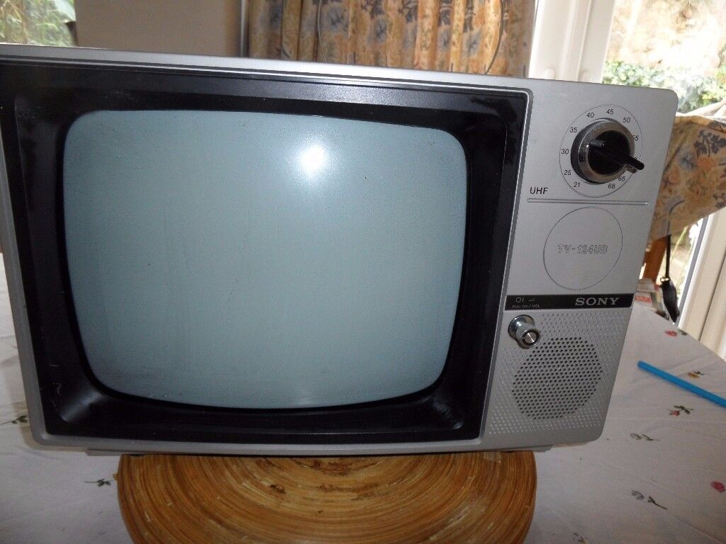 SONY TV 124UB B & WHITE TV - APPEARANCE AS NEW - IDEAL AS PROP - 230V - 12V.