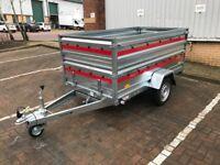 Brand new TEMA PRAKTI car box tiper trailer 750kg with double side