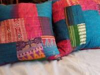 Plush cushions bohiemian style