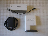 Bufffalo Airstation G54 wireless repeater/access point with PoE receiver.