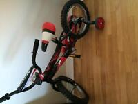 3-4 year old boy bike with training wheels