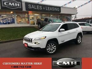 2016 Jeep Cherokee LIMITED V6 4X4 NAV CAM PANO-ROOF LEATH *CERTI