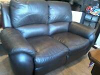 Leather recliner sofa plus chair