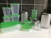 Huge set of food containers + fruit bowl