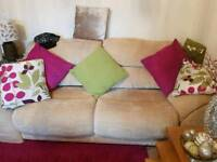 large 2 seater sofa 2 chairs and furniture