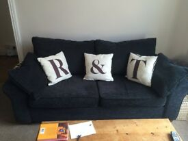 Next Garda Charcoal Sofa For sale