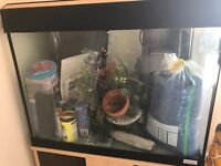 Fish Tank (Aquarium) with Storage Cabinet & Accessories