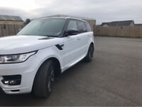 Range Rover sport dynamic 2017 White with Red Leather Panoramic glass roof
