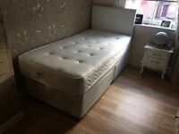 Single Divan Bed with mattress - good condition