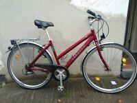 Ladies hybrid Deore LX quality German built town bike Bristol Upcycles l