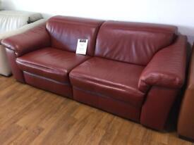 Natuzzi sanza power sofa. Ex display