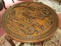 COFFEE TABLE - CARVED TOP - BEAUTIFUL DESIGN