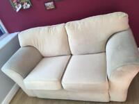 Cream/ beige/ natural colour 2 seater sofa