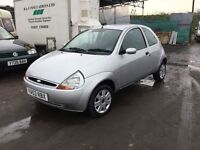 53 reg ford ka very low genuine mileage 41000 lovely driver ideal first car colour coded in silver