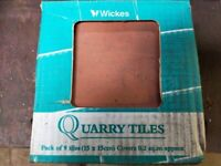 Wickes Quarry Tiles, 150 x 150, 9 in a pack, 4 packs available