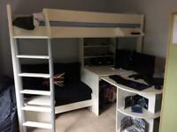 Stompa High Sleeper With Pull Out Desk Sofa And Single Futon