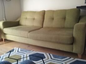 4 seater sofa DFS pistachio green