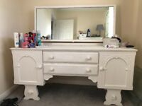 Solid shabby chic dressing table