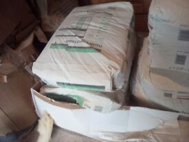 3 x bags of Thistle board finish plaster for £5