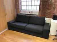 IKEA 2 seater charcoal sofa for sale