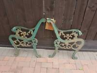 vintage cast iron garden bench ends