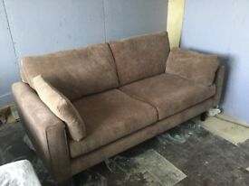 DFS brown 3 piece suite