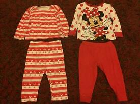 Baby girls pyjamas 9-12 months