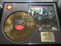 Motley Crue 24kt gold record