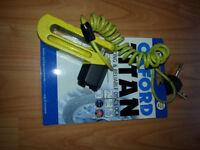 Motorcycle Titan Disk locks Yellow