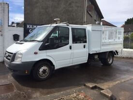 58 Ford Transit 350 Double Cab Tipper Pick Up 115 HP