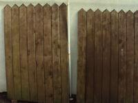 "2 Wooden Gates width-119.5 cm (47"") height-181.5 cm (71 1/2"")"