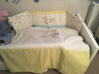 Mamas and papas cot bumper and quilt