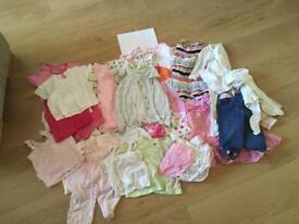 Bundle of girls clothes 6-9months