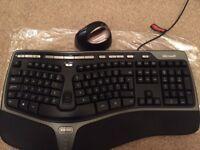 Microsoft natural split ergonomic keyboard + Evoluent Mouse