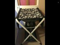 Foldable Ikea black & white changing unit