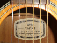 Yamaha FG-413SL left handed acoustic guitar with extras