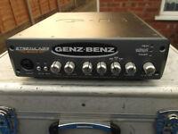 Genz Benz Streamliner 600 watt bass guitar amp head. Class D hybrid, powerful.