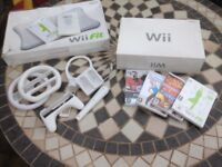 Nintendo Wii boxed with Wii fit and extras