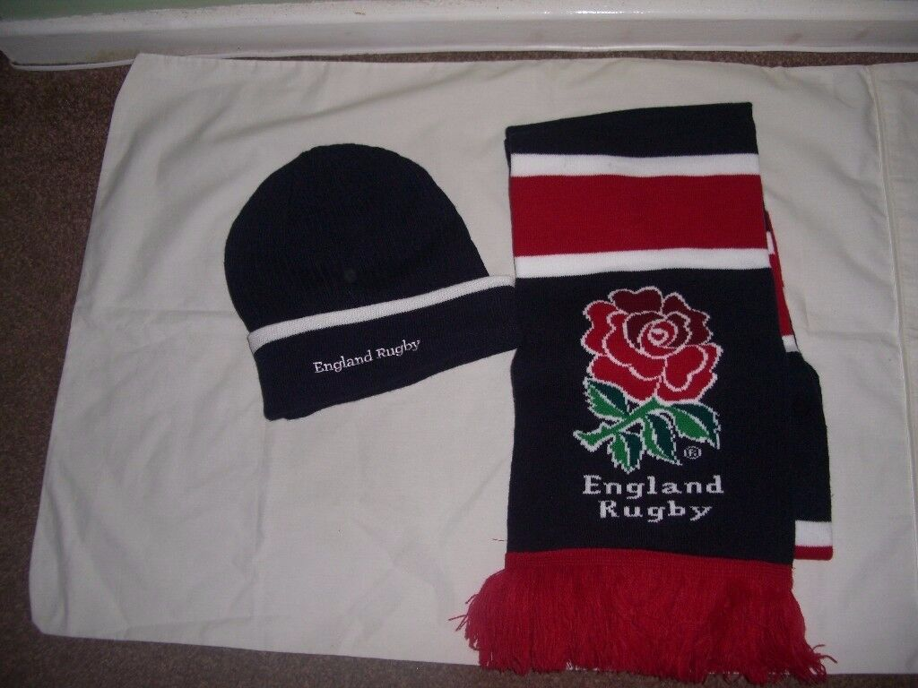 Rugby England hat & scarf