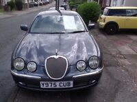 Jaguar S-TYPE 3LTR V6 R SPEC IN GREY WITH WHITE LEATHER SEATS