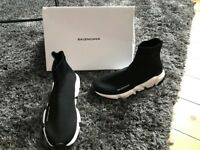 Black Balenciaga Speed Trainer Sock Sneakers