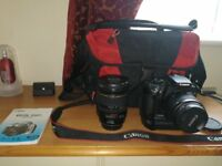 Canon 350D with battery pack
