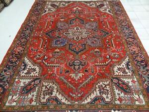 Persian Heriz Rug, Wool Rug, Handmade Rug (Free Shipping)