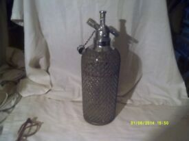 SODA SYPHON with METAL BRAID In V.G.C. with the GAS TOOL . ++++
