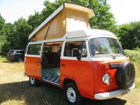 Volkswagen Type 2 Brazilian camper van - 2006 air cooled - classic orange and cream two tone